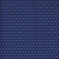 Papier japonais Cristaux bleu