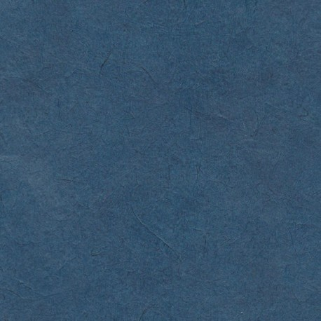 Papier népalais fin bleu jean
