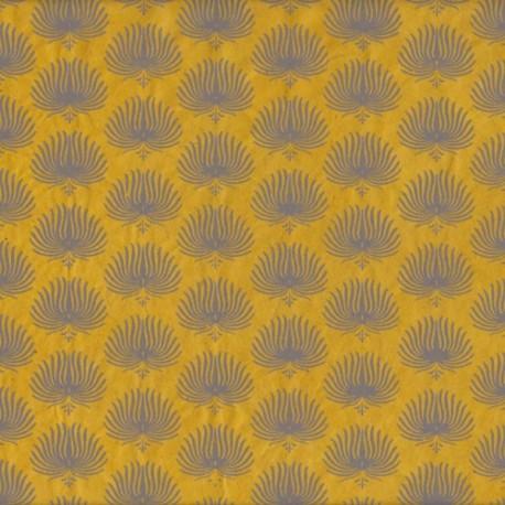 Papier népalais Palmes moutarde