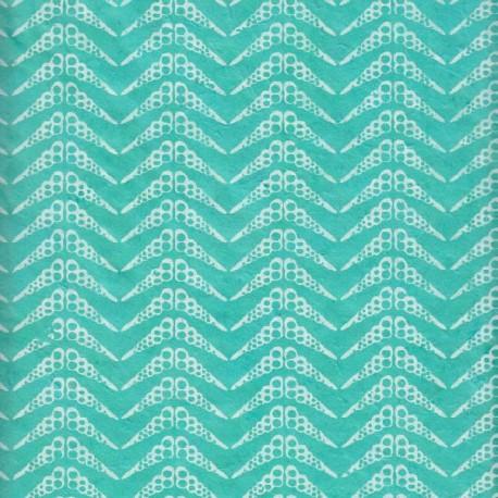 Papier népalais Coquillages turquoise