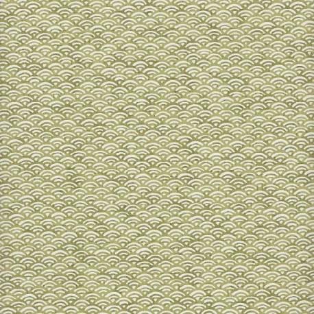 Papier japonais Petites Écailles thé vert