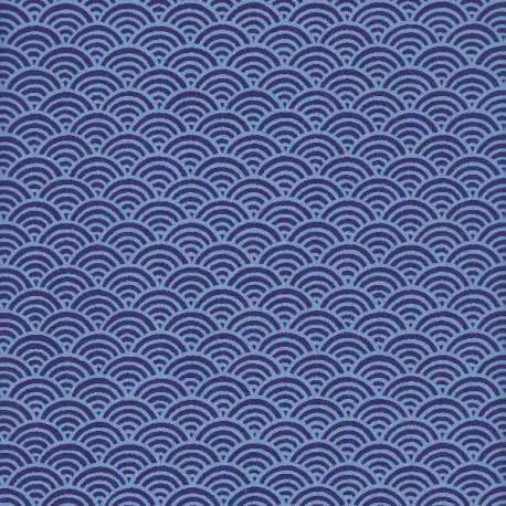 Papier japonais Grandes Écailles bleu