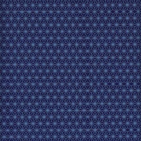 Papier japonais Asanoha bleu