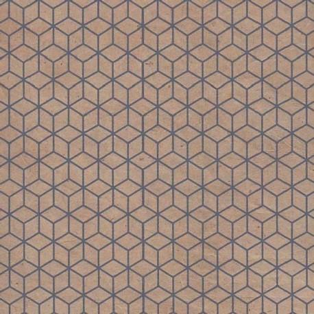 Papier népalais Rubik's cube gris