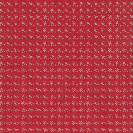 Papier népalais Ciel étoilé rouge