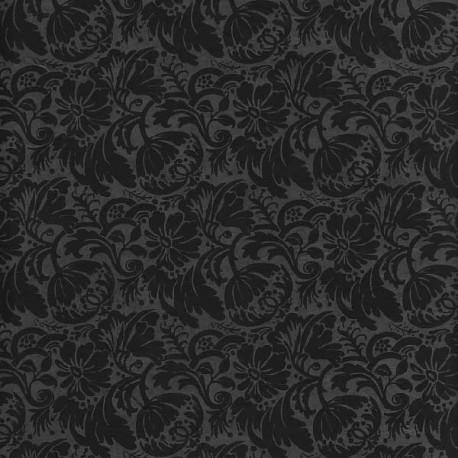 Papier népalais Fleurs de grenade noir