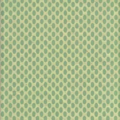 Papier népalais Ovni vert pastel