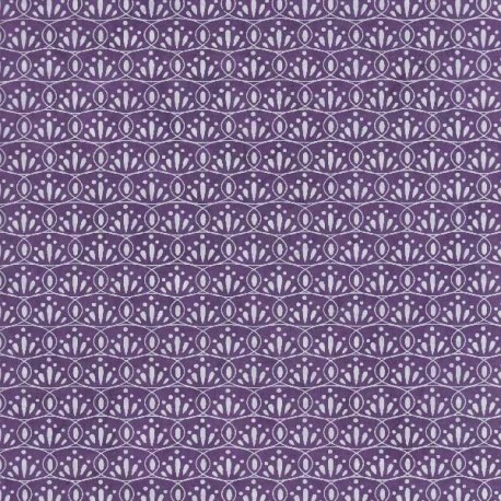 Papier népalais Ovale fleuri violine