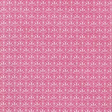 Papier népalais Ovale fleuri panthère rose