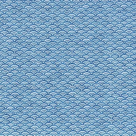 Papier japonais Petites Écailles bleues