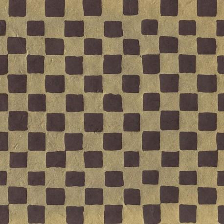 Papier népalais Échiquier marron