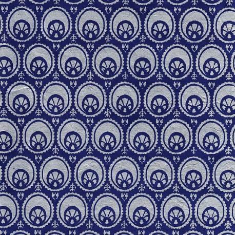 Papier népalais Otto bleu foncé