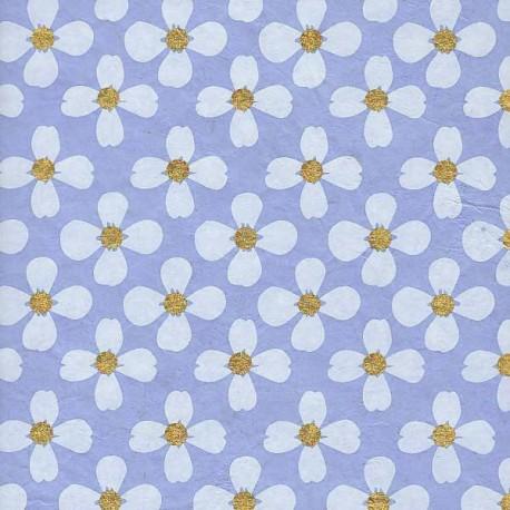Papier népalais Escholtzias bleu gris