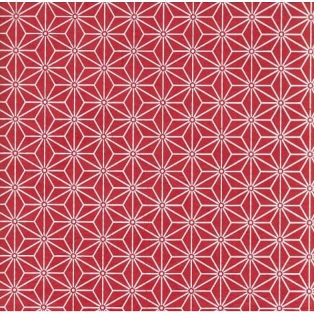 Papier népalais Sashiko rouge