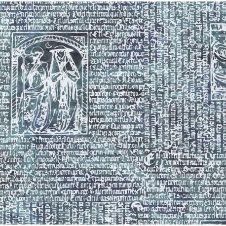 Papier népalais Villon bleu