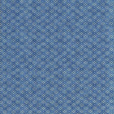 Papier japonais Azulejo bleu