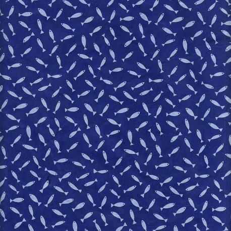 Papier népalais Mini Sardines bleu