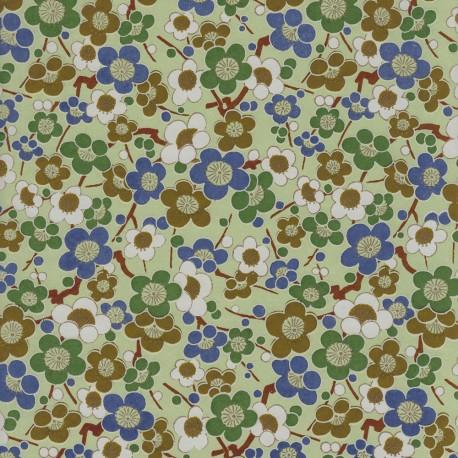 Papier japonais Liberty bleu