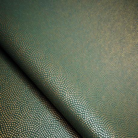 Papier japonais Samekomon vert impérial