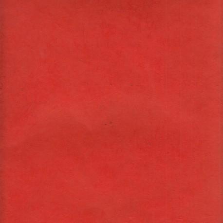 Papier népalais fin rouge orangé
