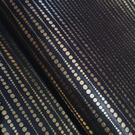 Papier népalais Perles d'Or anthracite
