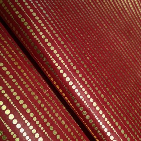 Papier népalais Perles d'or rouge