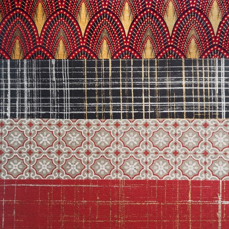 Kit 8 papiers Indiens Rouge Précieux 15x15 cm