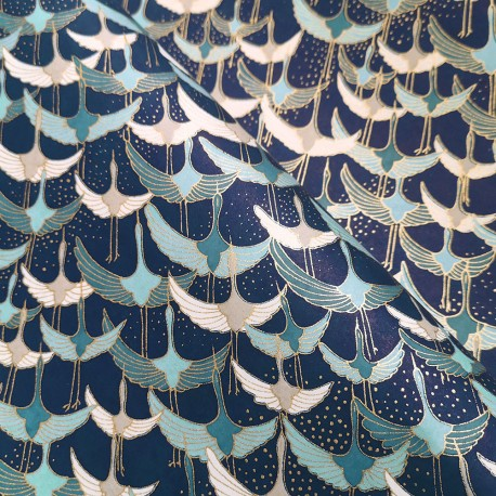 Papier japonais Tsuru bleu