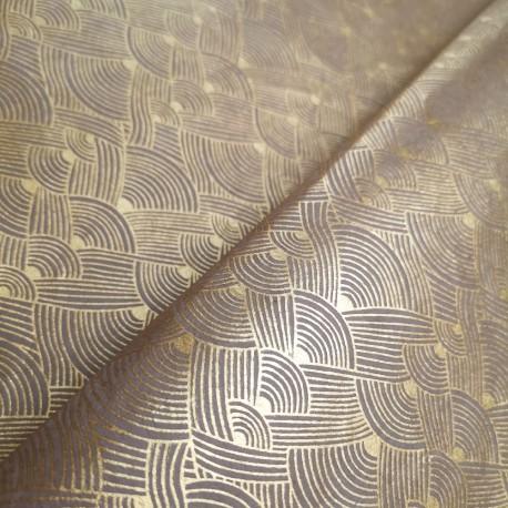 Papier népalais Tressage d'or