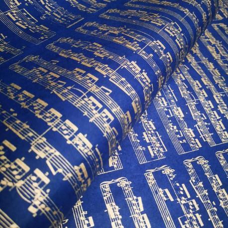 Papier népalais Sonate or bleu